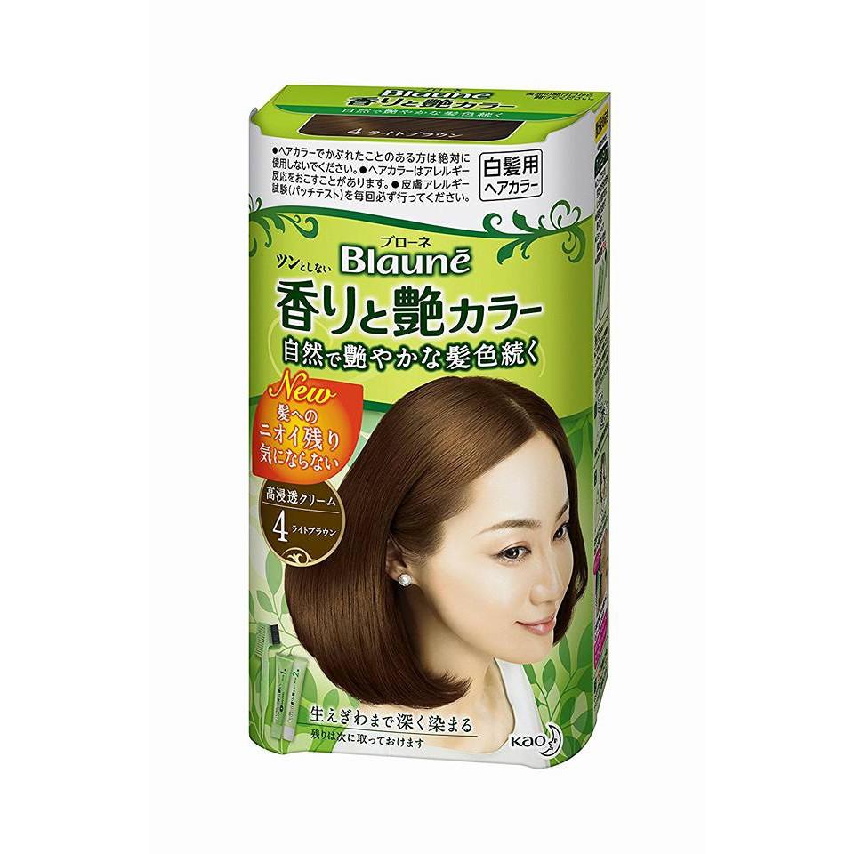 Thuốc nhuộm tóc Nhật KAO BLAUNE - Dành cho tóc bạc - Màu NÂU SÁNG - số 4 - LIGHT BROWN - 14006226 , 799170249 , 322_799170249 , 290000 , Thuoc-nhuom-toc-Nhat-KAO-BLAUNE-Danh-cho-toc-bac-Mau-NAU-SANG-so-4-LIGHT-BROWN-322_799170249 , shopee.vn , Thuốc nhuộm tóc Nhật KAO BLAUNE - Dành cho tóc bạc - Màu NÂU SÁNG - số 4 - LIGHT BROWN