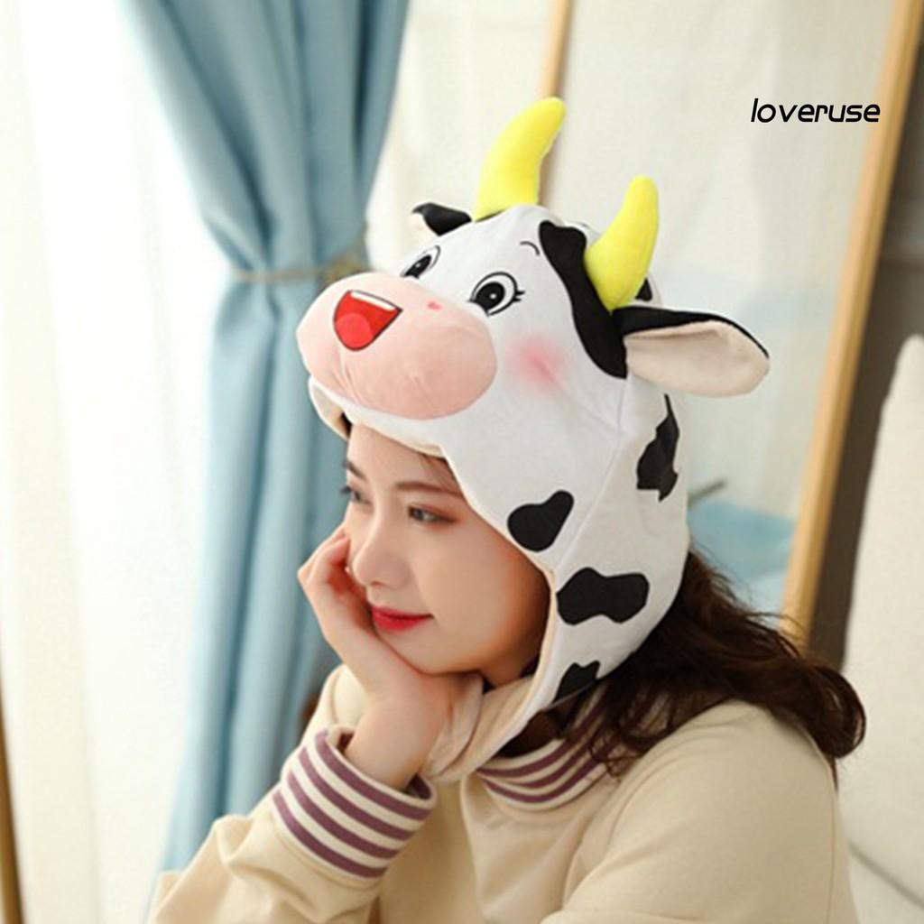 Nón Họa Tiết Chú Bò Sữa Đáng Yêu Dùng Để Làm Phông Nền Chụp Ảnh