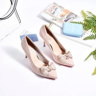 Giày cao gót Merly - 1091-kem