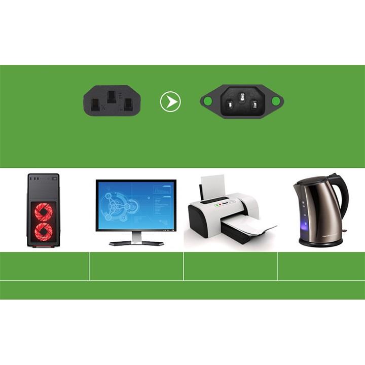 Dây nguồn PC máy tính 2 chân 1.5m đa năng dùng cho máy móc văn phòng nồi cơm điện youngcityshop 30.000