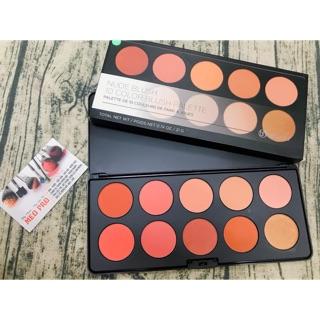Bảng phấn má 10 ô BH Cosmetics nude blush palette( auth)