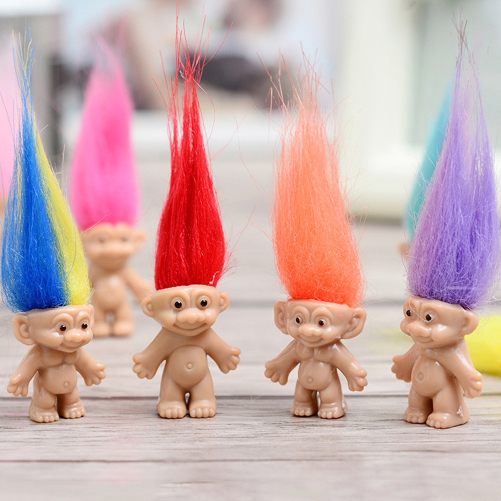 Simulation Vintage Non-toxic Lucky Children Fun Doll Toy Mini Figures 10pcs Cake Toppers