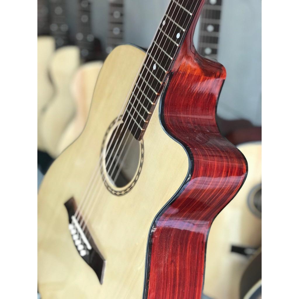 Guitar Acoustic có ty + Bộ dây alice + bao da