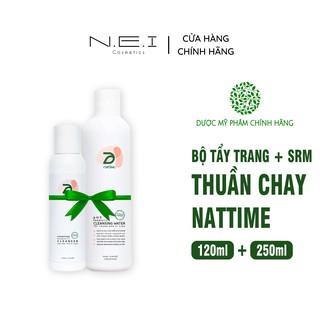 Sữa rửa mặt, Nước tẩy trang NATTIME - Bộ đôi làm sạch da mặt Thuần chay Men vi sinh thumbnail