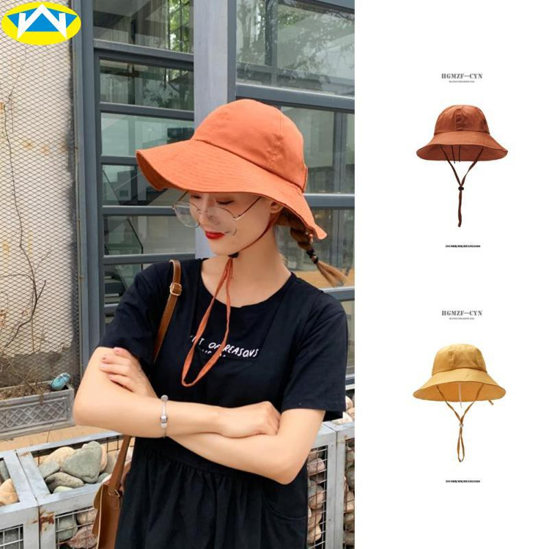หมวกหญิงฤดูร้อนวันหยุดวันหยุด visor ที่เรียบง่ายหมวกชาวประมงป่าเวอร์ชั่นเกาหลีของหมวกอ่างชายป้องกันแสงแดดริมทะเลหมวกดวงอ