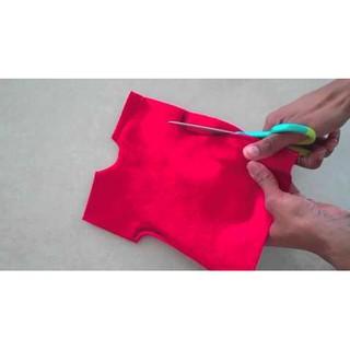 Vải may đồ cho búp bê của bé ( tặng túi gibi)