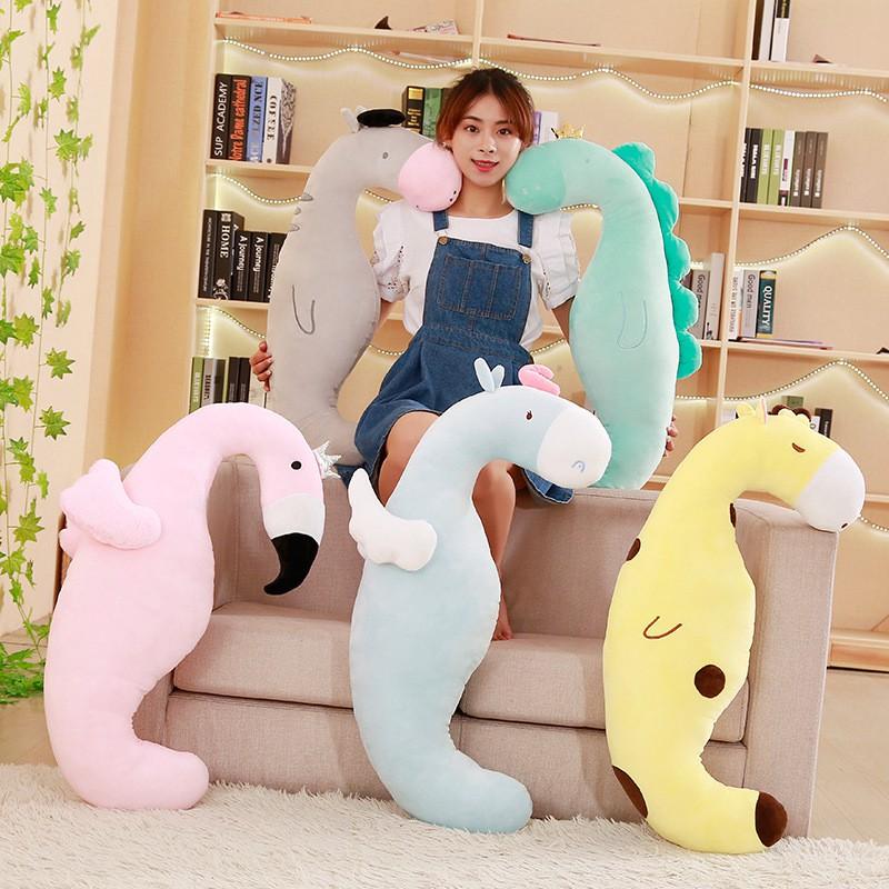 น่ารักสัตว์นอนหมอนแฟนหมอน nap สาวตุ๊กตาไดโนเสาร์