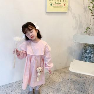 Đầm pinky  tay phồng  cho bé D465