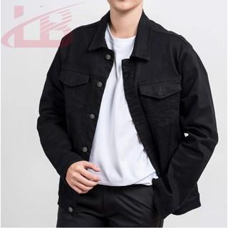 Áo khoác unisex LB, chất kaki jean nam nữ mang được, nhiều size