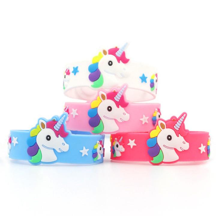 Vòng tay Unicorn hottrend cho bé gái bằng nhựa mềm đủ màu sắc BBShine – J045