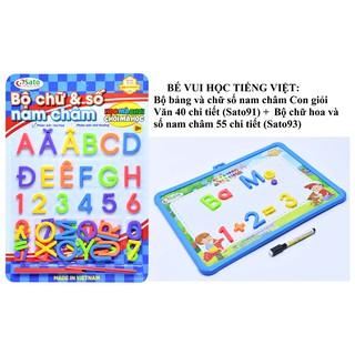 BÉ HỌC TIẾNG VIỆT – Combo Bộ bảng, chữ cái và chữ số nam châm, que tính cho bé