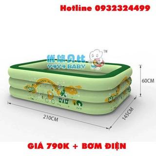 Bể bơi Summer Baby 210*145*65CM 3 tầng tặng bơm điện 2 chiều
