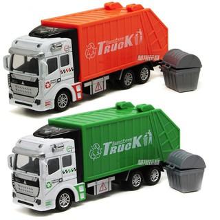 Xe ô tô mô hình chở rác đồ chơi trẻ em tỉ lệ 1 48 chạy cót thumbnail
