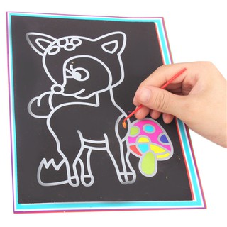 PARA*Cartoon Scratch Painting – A4 Large DIY Primary School Students Scratching