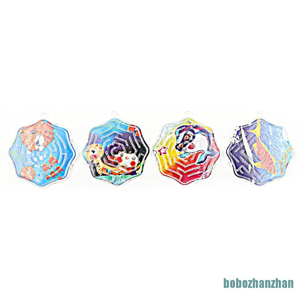 [bobozhanzhan]4pcs 3D Magic Cube Puzzle Speed Cube Puzzle Labyrinth Ball Toy Track Maze Toys
