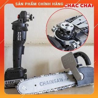 [Free ship] [CHÍNH HÃNG] Máy mài pin HITACHI 118V 2 pin + Lưỡi cưa xích Chain Saw Khuyến Mãi