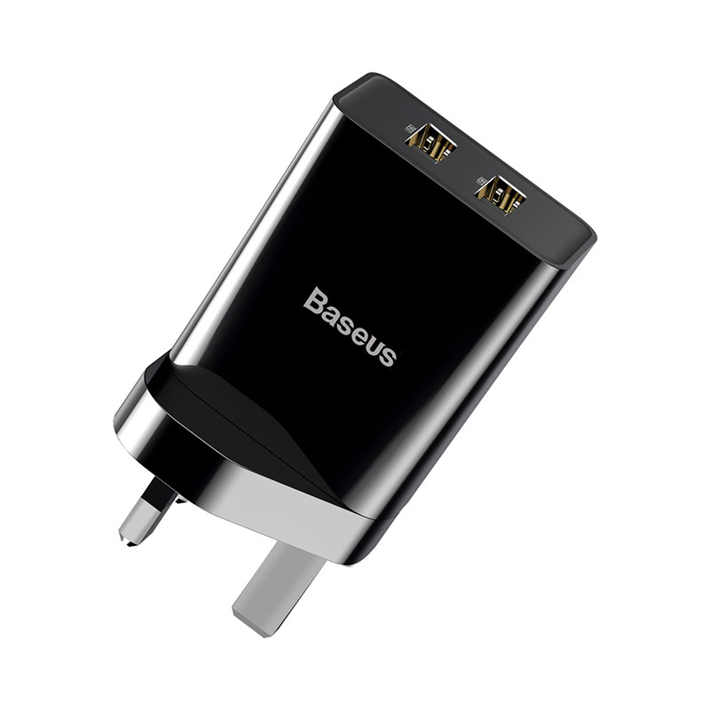 UK Baseus Mini Dual USB Charger Wall Plug Charger Quick Charger for iPhone Samsung Xiaomi Mi Huawei Mobile Phone Charger