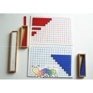 Bảng phép tính cộng trừ loại to, Subtraction and Addition Strip Board – Giáo cụ montessori