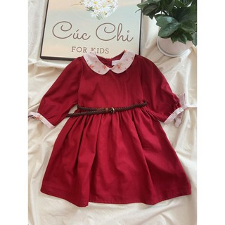 Váy Thu Đông Bé Gái⚜️5-14 tuổi⚜️ Đầm Trẻ Em  Tay Lỡ - Đầm Em Bé Cao Cấp - Váy thiết kế