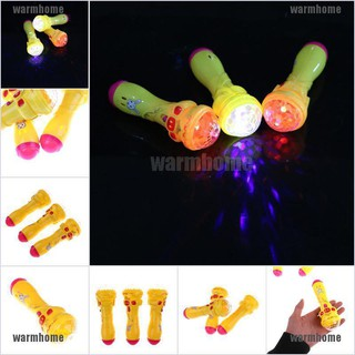 warmhome New 1x LED Projection Microphone Flash Microphone Light-emitting Baby Kids Hot T thro