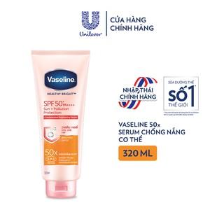 Vaseline 50x Serum chống nắng cơ thể SPF50 + dưỡng da sáng khoẻ 320ML thumbnail