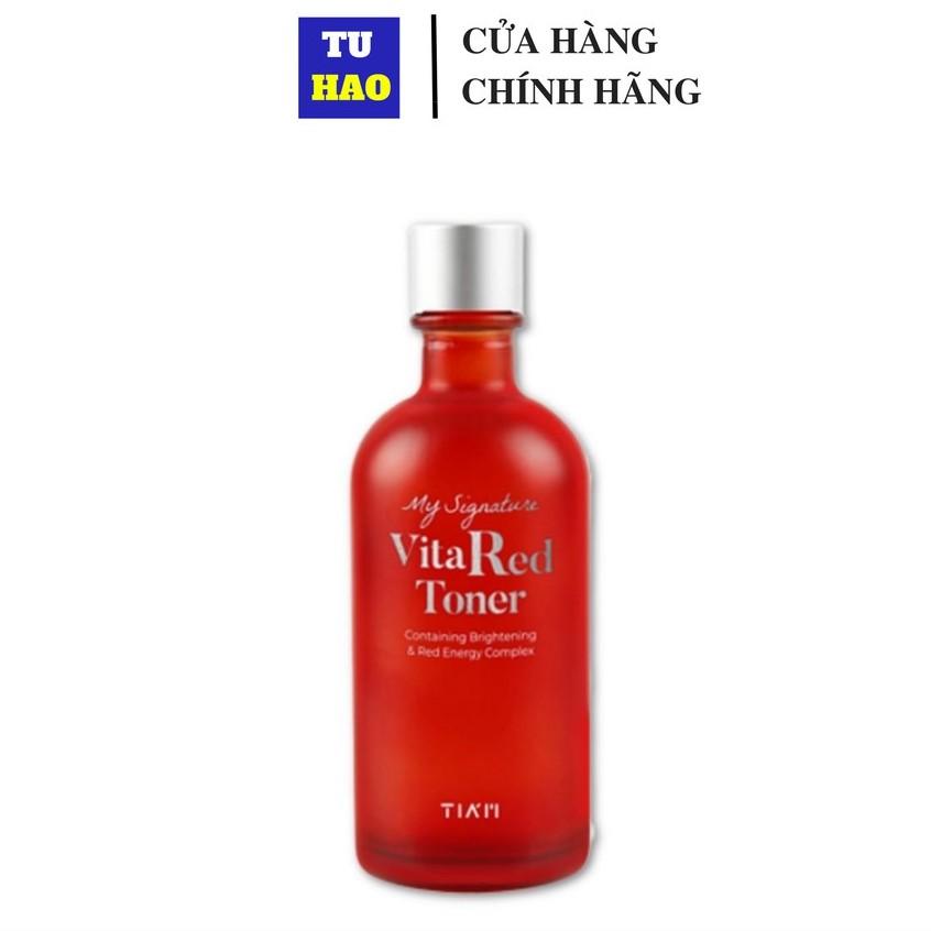 [Mã FMCGMALL - 8% đơn 250K] Nước hoa hồng cân bằng da dưỡng trắng da TIAM My Signature Tia'm Red C 130ml