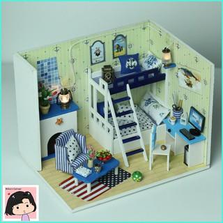 """Mô Hình Nhà Gỗ DIY """"Giấc mơ màu xanh"""""""