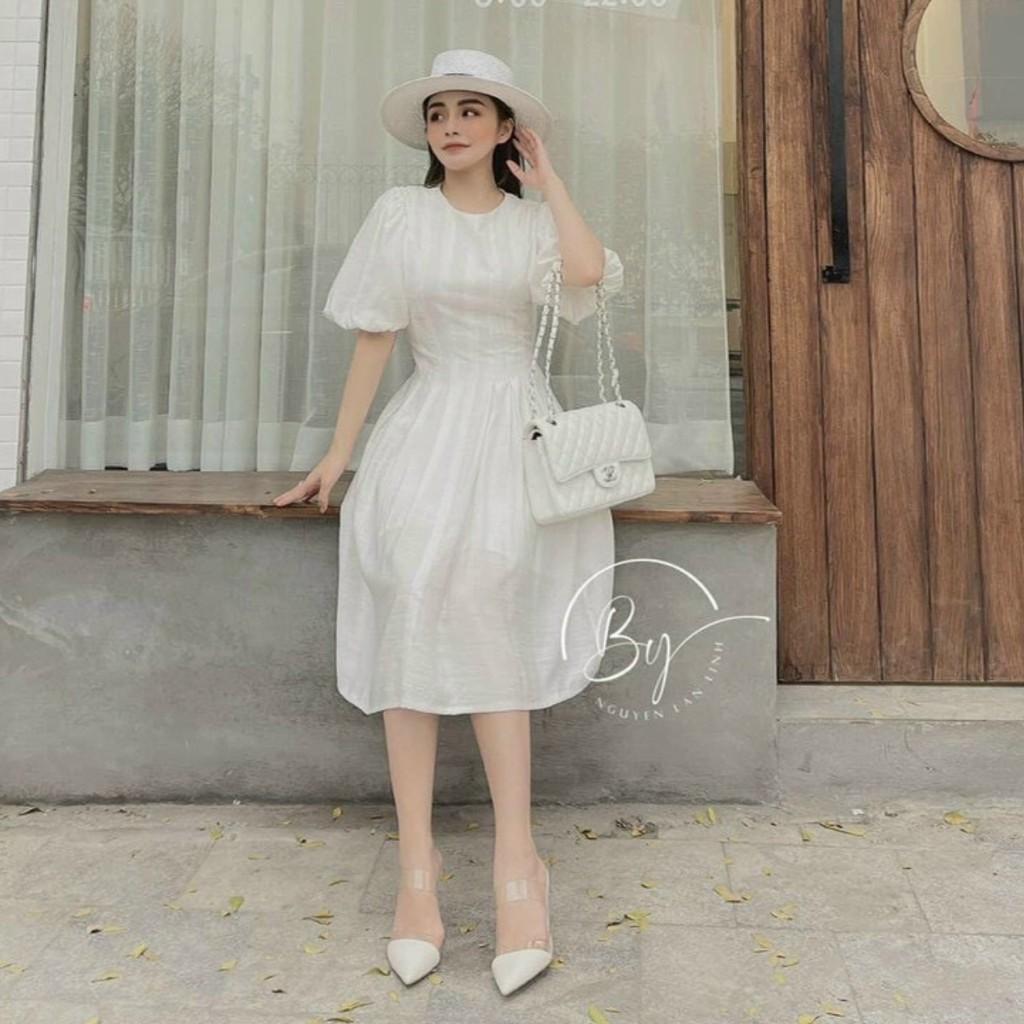Mặc gì đẹp: Sang chảnh với Đầm Nữ Đẹp❤Đầm Dự Tiệc Thiết Kế Dáng Dài Form Xòe Xinh Lung Linh Hanaki HNK316