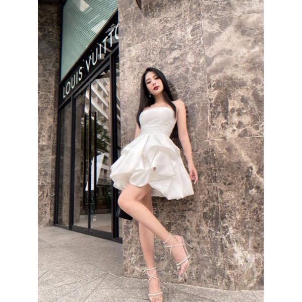 Mặc gì đẹp: Sang chảnh với Đầm dự tiệc cúp ngực dáng bồng xòe công chúa nhìu màu đáng yêu - Anni Dress