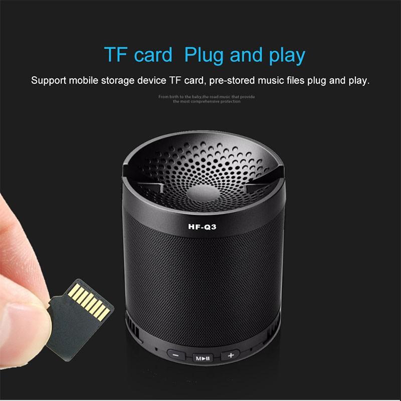 Loa Bluetooth mini Q3 có giá đỡ điện thoại, khe cắm thẻ nhớ