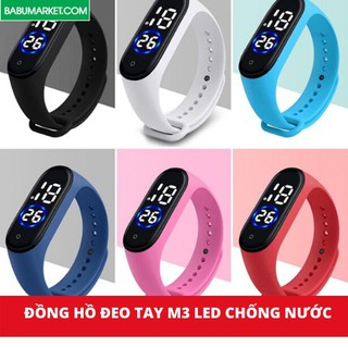 Đồng Hồ Đeo Tay M3 LED Màn Hình Cảm Ứng Thông Minh Chống Thấm Nước Mẫu Mới 2020 – Đồng Hồ Thông Minh Cho Hoc Sinh