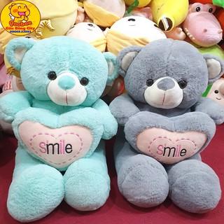 Gấu Bông Ôm Tim Smile Quà Tặng Người Thương Gấu Bông City thumbnail