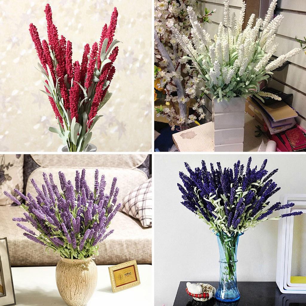 7 nhánh hoa oải hương giả để trang trí