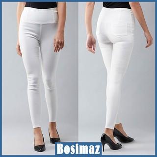 Quần Legging Nữ Bosimaz MS216 dài túi sau màu trắng cao cấp, thun co giãn 4 chiều, vải đẹp dày, thoáng mát không xù lông thumbnail