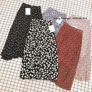 [Ảnh thật Video] Chân váy hoa nhí vintage nhiều màu hàng Quảng Châu - Chân váy dài vintage 2 lớp- Dorita Boutique thumbnail
