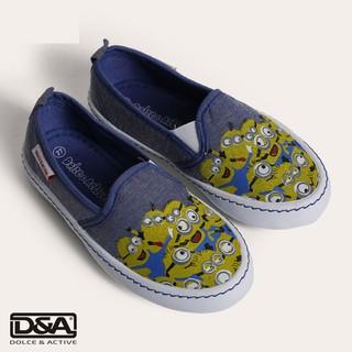 D&A giầy slipon bé gái BG1604 xanh bò thumbnail