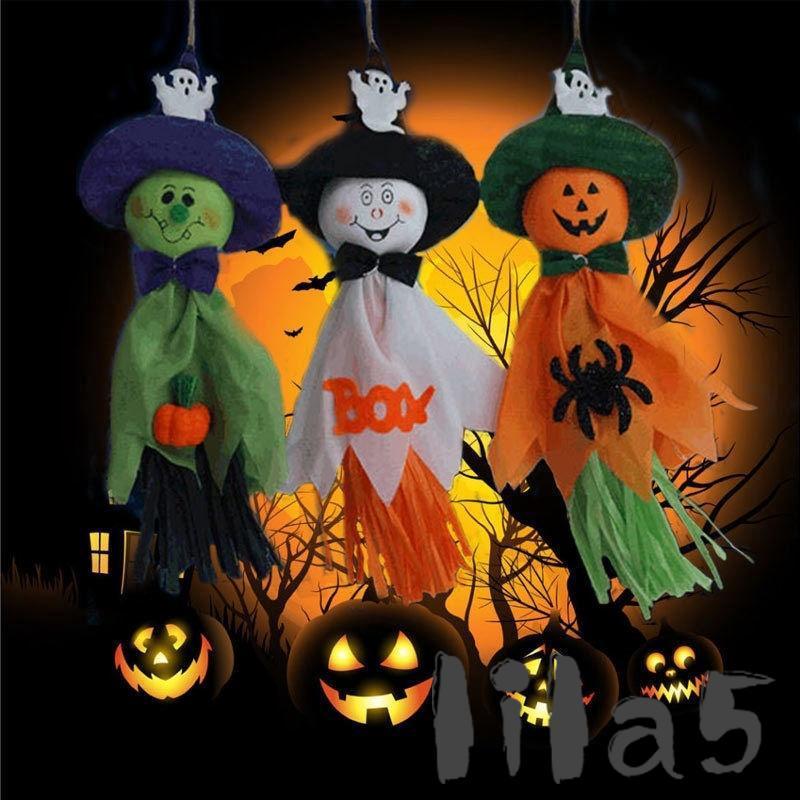 ღ☭Hanging Corn Bran Ghost Halloween Party Prop Decoration Scary Cute