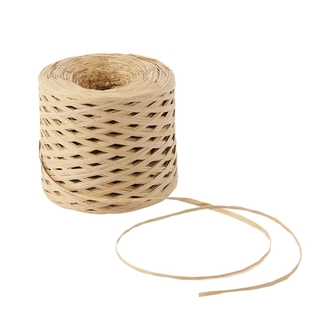 200M Natural Raffia Paper Twine Rope For Gift Wrap Ribbon Bouquet Wrapping DIY Craft For Party Wedding Decor Party Suppl