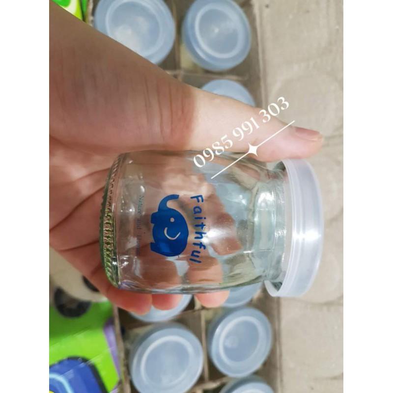 (Set 12 hũ) Bể vỡ 1 đền 1 - Hũ thủy tinh có nắp đậy - lọ thủy tinh làm sữa chua, yaourt, pudding, flan