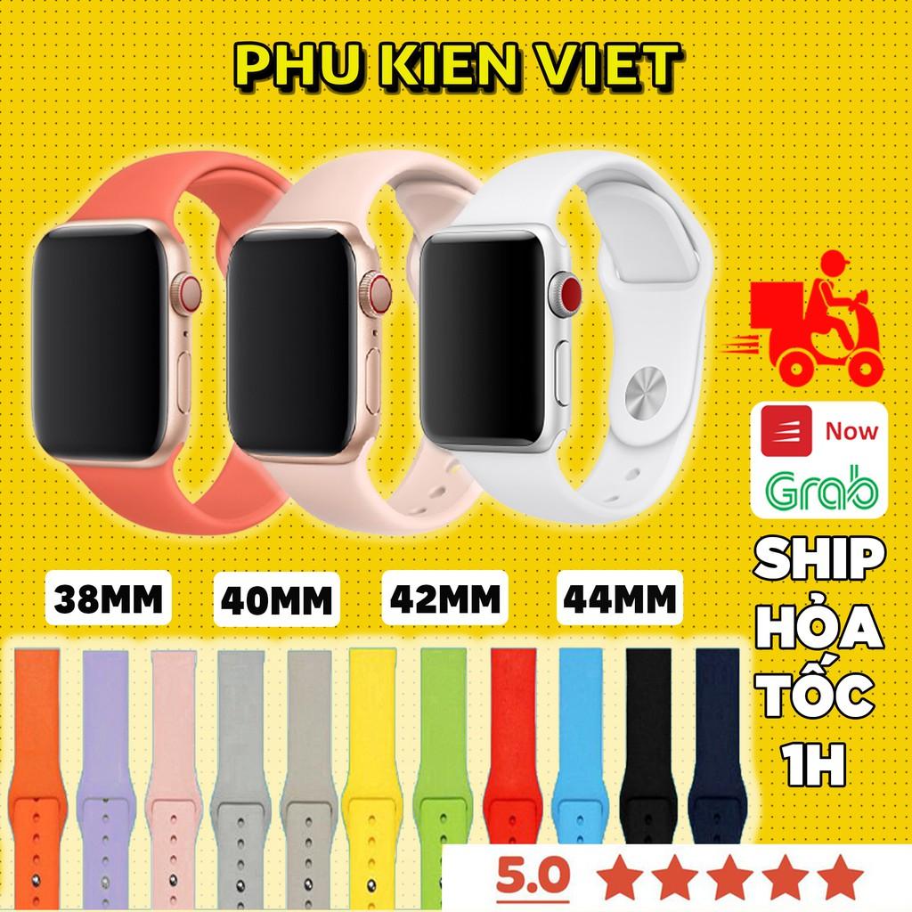 Dây Apple Watch Cao Su Chống Bẩn Siêu Mềm Cho Đồng Hồ Thông Minh Series 1/2/3/4/5/6/SE T500 - Phụ Kiện Việt