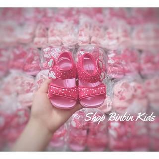 Sandal siêu nhẹ cho bé gái quai nơ đi siêu yêu