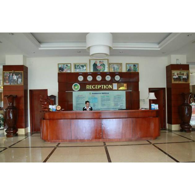 Hà Nội [Voucher] - Khách sạn Dakruco Nghỉ dưỡng 2N1Đ tại phòng Deluxe khu A Ăn sáng cho 02 người