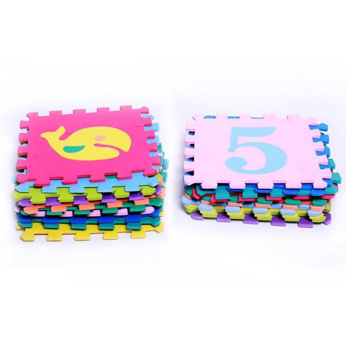 Combo 10 miếng thảm xốp đồ chơi cho bé yêu dễ dàng lắp ráp theo sự sáng tạo của mình...