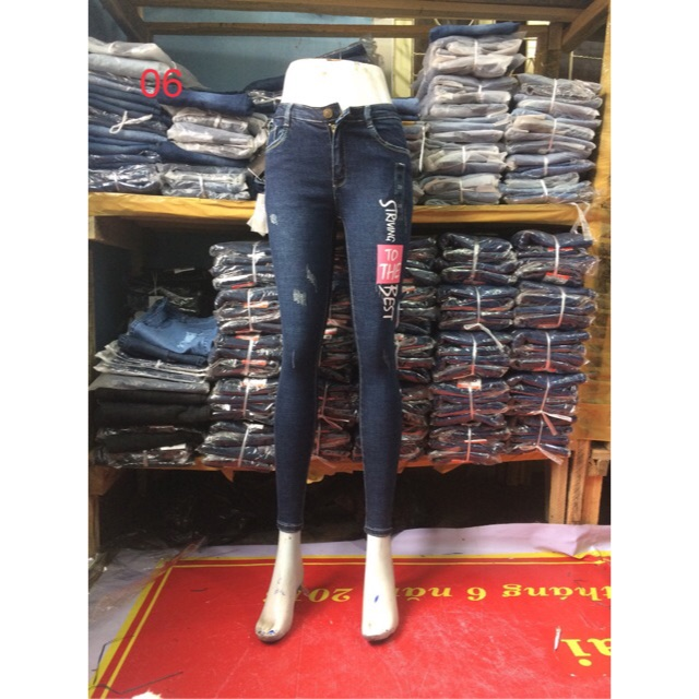 Jeans in chữ