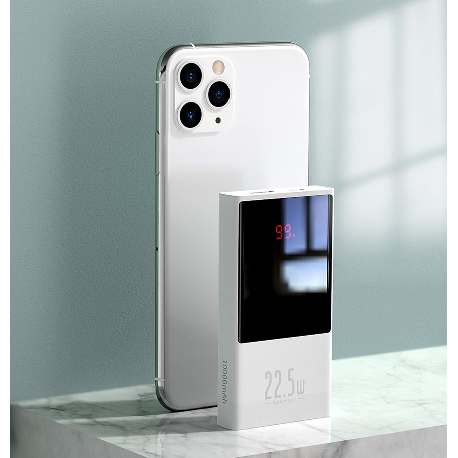 Pin sạc dự phòng Baseus PD 22.5W IPhone 12 Samsung , Super Mini 10000 mAh / 20000 mAh, Adaman PD 22.5W 10000 mAh
