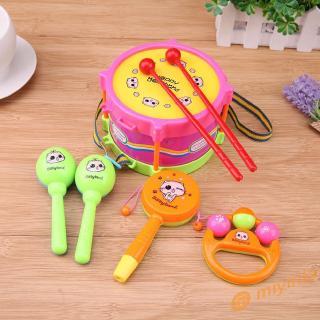 12❀ 5pcs/Set Kids Toys Roll Drum Musical Instruments Band Kit Children Toy