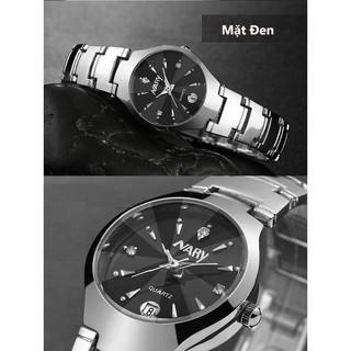 Đồng hồ nam nữ cặp đôi dây thép Nary thumbnail