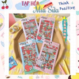 Set 4 tấm sticker bé dâu PVC xịn sò - MiuSua thumbnail