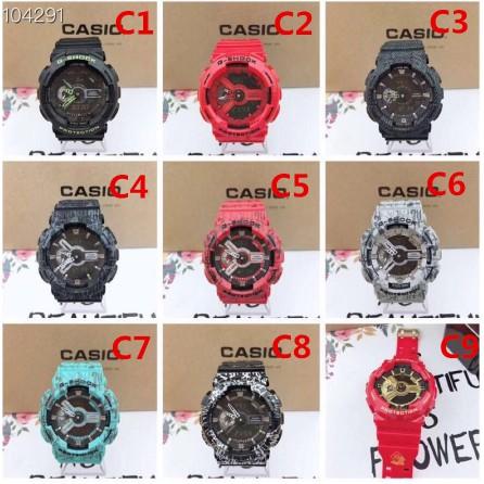 นาฬิกา Casio ของแท้ต้นฉบับ Gshock หน้าปัดใหญ่นักรบดำกันน้ําแฟชั่นกีฬาชาย GA-110-1Bนาฬิกา