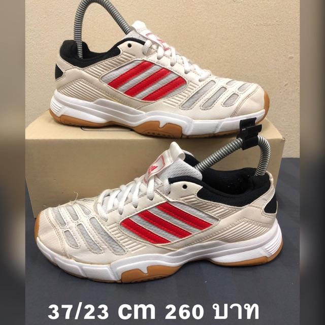 Adidas แท้ รองเท้าตีแบด มือ2 37 ยาว 23cm